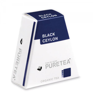 PURETEA Bio thee Black Ceylon white line