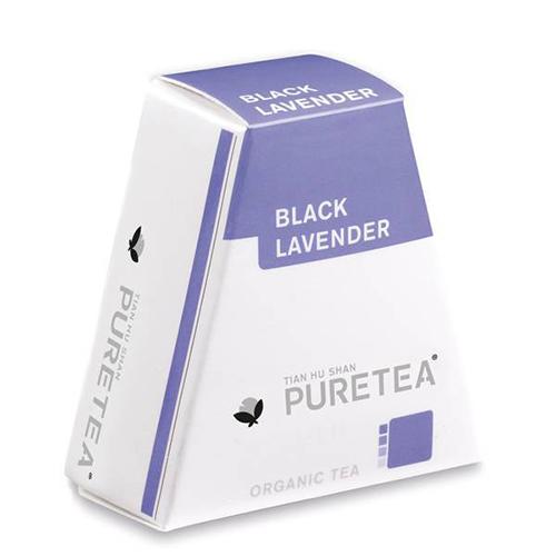 PURETEA Bio thee Black Lavander white line