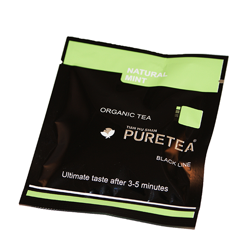 PURETEA Bio thee Natural Mint black line 25 stuks
