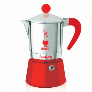 Bialetti Happy Rood 3 kops
