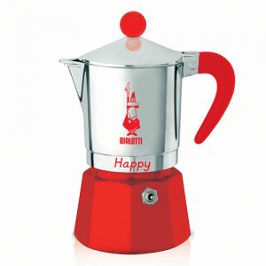 Bialetti Happy Rood 3 kops