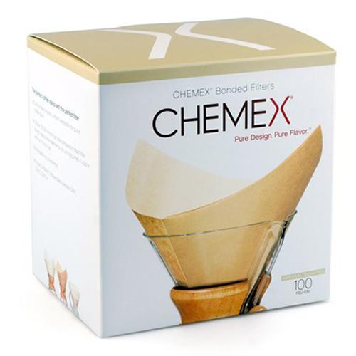 Chemex Filters vierkant bruin 6-8-10 kops
