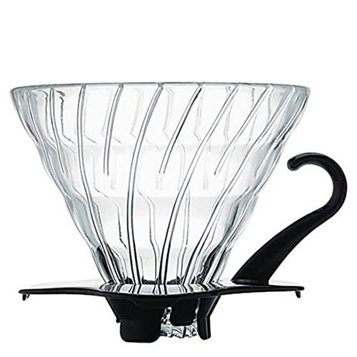 Hario V60 Dripper 02 Glas Zwart 1-4 kops