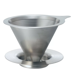Hario Dripper V60-02 Double Mesh Metal RVS